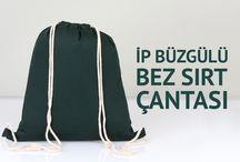 İp büzgülü sırt çantası