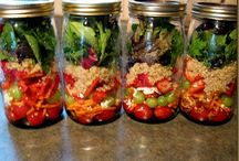 SALAD / Salad in a jar. Ready for you in the fridge to grab and go.