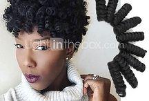 Curly hair - Twist out - Short hair
