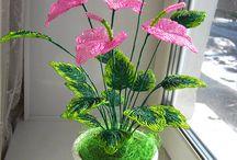 Korálkové kvety a rastliny / krásna príroda z korálok