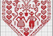 Kreuzstich - Herzen
