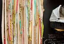 Doorway curtains / Cover your doorway with curtains made of beads, macramé, fabric strips etc.