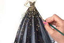 rysunki sukienek