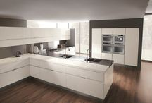 Total white kitchens / Contemporary and minimalist kitchen design with a total white look. Beauty and purity.