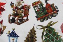 Kerst / Deze mooie kerststoffen hebben een mooie linnenstructuur. Super geschikt om mooie kerstkleden van te maken.