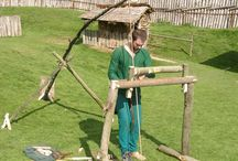 Medieval tools, clothes and craft