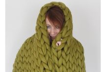 Chunky knits / Merino wool chunky knit blankets and throws