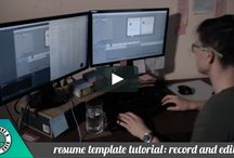 #cvupdate / You'll find here my working process in creating resume templates ;)