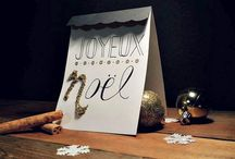 """Carte de Noël fait """"À la main"""""""