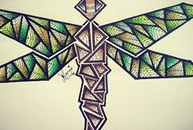 Abstract and geometric artwork using Chameleon Pens