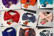 Pet bow tie collar / Fancy cat dog bow tie hand made