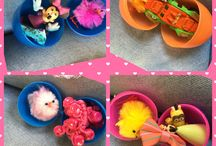 Chocolate free Easter egg ideas / Easter Egg Hunt Ideas for Toddlers, free of chocolate but full of goodies