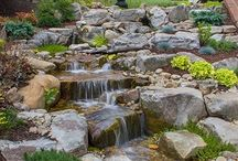 Weeping willow dry river bed pond water feature
