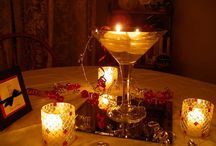 Candle Center pieces / Candles are a simple, elegant and in expensive way to have as a center piece