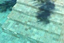 piscinas com pedras hijau