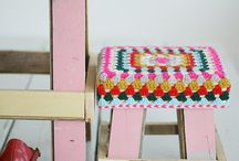 crocher stool cover