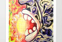 Hand-Painted/ Hand-drawn Art