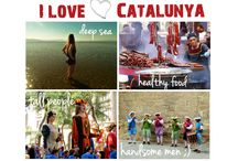I love Catalunya / I love Catalunya ... for the deep sea, healthy food, 'giant' people and handsome men  ;-)  For mountains, castles, heat, sweat and mañana too