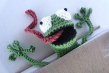Frog book mark