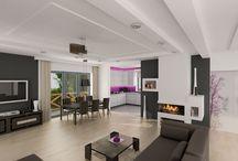 ALEXANDRIA - wnętrza domu mieszkalnego / Wnętrze domu mieszkalnego z poddaszem użytkowym. Szczegóły: http://www.pro-arte.pl/projekt/show/?projekt_id=802&mode=opis