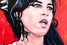 Amy Winehouse schilderijen / Amy Winehouse schilderijen door Nikki Genee