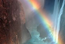 Rainbows / Beautiful rays of light! # Magic! / by Kathryn (Kitty) Wenke