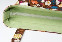 bolsa de tecido com ziper