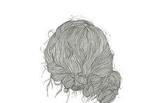saç modeleri ve çizimleri