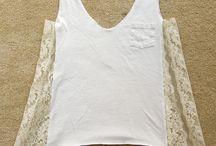 DIY lace shirts