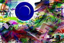 Lunas / Pintura Abstracta Digital . Digital Abstraction Paintings.  © All work is copyright and protected. Unauthorised usage, duplication, production or reproduction without prior written consent is strictly prohibited. All rights reserved