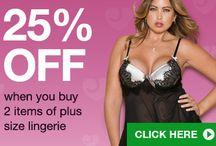 Sexy Plus Size 14+ Lingerie / Sexy Plus Size lingerie sets for sexy curves. Our range of babydolls, corsets, basques, bra sets, pantyhose and stockings, sleepwear, cami sets and panties fit ladies with fuller figures. With free shipping Check it Out through Store Erotic