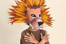 DIY Paper and Cardboard Craft / Manualidades en carton, talleres de mascaras y con material reciclado. DIY  Cardboard mask and workshops