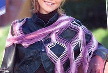 шарфы.вязание