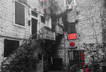 Black n White Split / Photos of Split, the 2nd largest town in Croatia, all in B&W