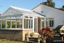 Cheltenham 2000 / Nice, straightforward PVC conservatory with a Gable roof; adds a generous outside space onto this bungalow.