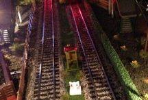 Model Train Night Scenes
