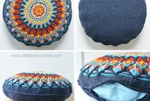 mandala pillow crochet