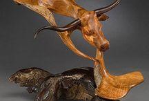 Contemporain  sculpture of wood