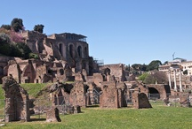 PALATINO / O Palatino Fresco do deus Apolo na casa de Augusto  A casa de Livia  A Domus Flavia A Domus Augustana O Stadium A Domus Severiana