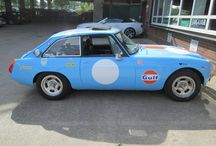 MGB Racing Car / Blue MGB Racing Car buying parts at the David Manners Group http://www.jagspares.co.uk/Abingdon/company.asp / by David Manners Group