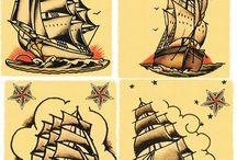 Old school tattoo - Ships