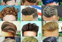 man hair