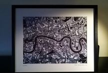 Perfect gift ideas for Christmas / Beautiful and unusual hand drawn maps of London.  Ideal Christmas present for the friend or family member that has everything!