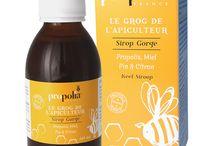 PRODUITS ✿ Les essentiels de l'apiculteur / Retrouvez les propriétés de la Propolis dans une gamme de produits adaptés à diverses utilisations visant à vous soutenir dans votre quotidien.  #bienetre #beauté #sirop #propolia