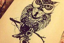 Татуировки совы