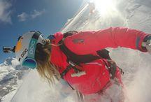 Snowboard/ski gears
