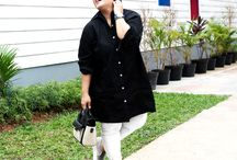 2015 - Monochrome Long Blouse / Monochrome long blouse, material Cotton which specially designed for sophisticated curvy women originally made by Indonesian Designer & Local Brand: Ella Es Bonita.