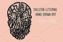 Lettering / Cool hand drawn typography calligraphy illystration