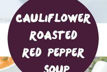 Recipes / Cauliflower/ pepper soup