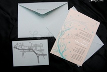 .: Letterpress Wedding Card :.